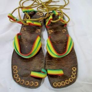 HANDMADE JAMAICA Strappy Gladiator Thong Sandal